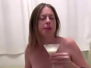 Preggo slut cock milk drench