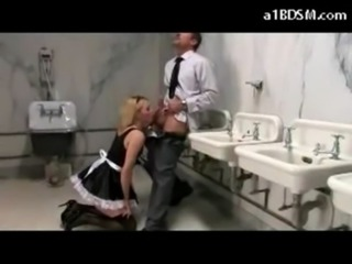 Busty Maid Gagged With Her Pantys Spanked Fucked While Cleaning Sucking Cock...