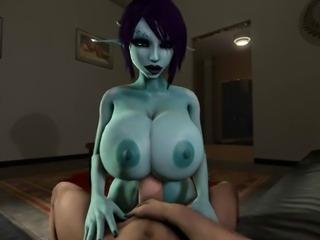 Fuck Soria's big tits 3D