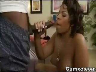 Awesome Ebony Sucking And Cumshot