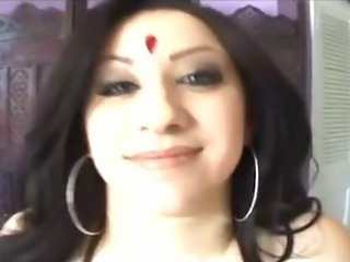 Indian Desi with Big Tits Sucks and Fucks Huge Cock