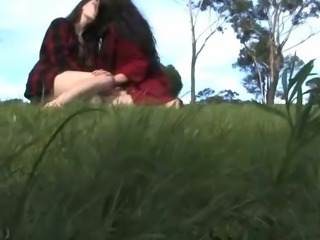 Aussie hairy hippies make love outdoors