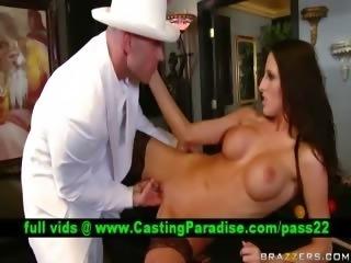 Kortney Kane busty brunette licked