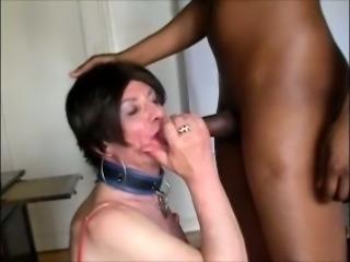 Deep throat sucking & ass pounding for a crossdresser