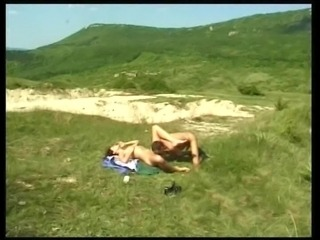 Hairy Bitch get fucked during Sun Bathing