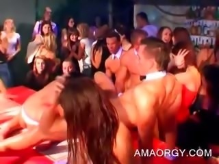 CFNM sex party with lucky hoes fucked by strippers
