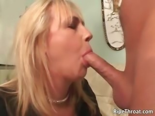 Nasty big boobed blonde MILF slut gives part1