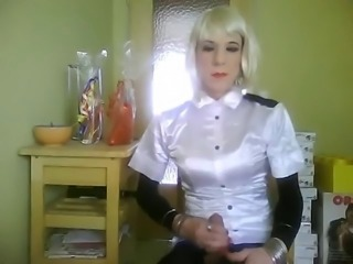 TVSonja in Satin-Cockplaying