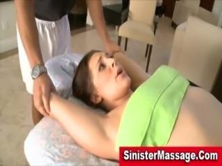 Massage table babe seduction free