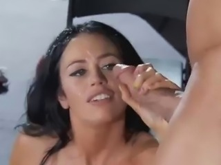 Beautiful Aryana Augustine gets huge facial cumshot