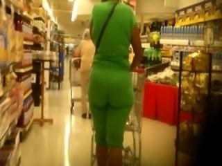 Lime Green Vpl Ass Booty Butt Wedgie