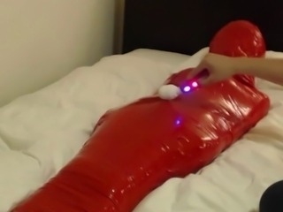 Mummified Kigurumi Girl is to Orgasm