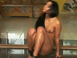 Amazing sexy girl Angel Pink is showing us her perfect body and is masturbating