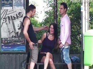 The most amazing Public Sex threesome EVER!