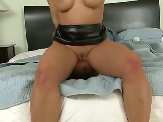 Luxurious woman with perfect ass and breasts Kelly Divine rides up face of...