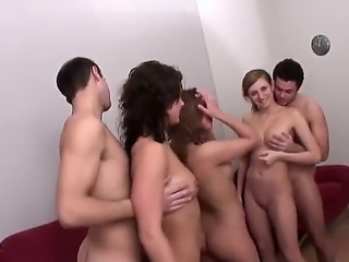 Lusty Greta and Snistcx are having spectacular orgy session with their...