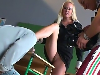 Backstage clip with super hot milf teacher and her bad boy student. This...