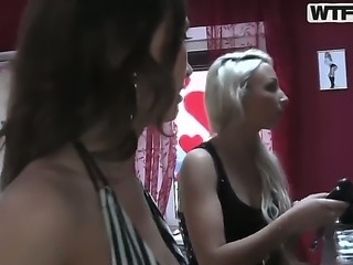 Naughty horny lesbian bithes Alice christina and kiki get into hardcore...