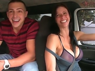 Sexy babe Evelyn Jacobs got into the bang bus, and she is getting totally banged