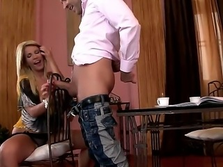 Amazing milf Tiffany Rousso pleases hunk by giving him an amazing blowjob