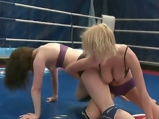 Hardcore ladies Mandi Dee and Tiffany Doll want to dominate on this ring