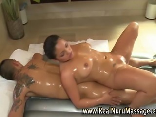 Sexy asian fetish masseuse babe and client sexy massage