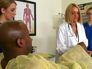 Amy Brooke, Krissy Lynn and Lily Labeau are doing the routine check up of...