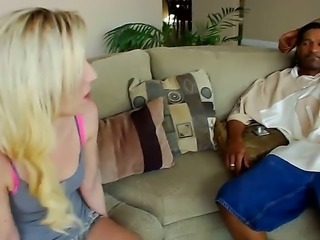 The sexy blonde Cherokee with a tattooed body shows her charms to her new friend