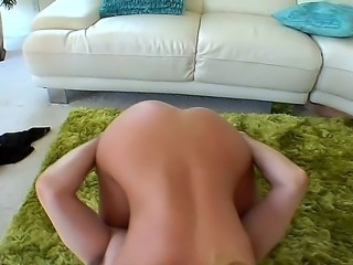 A wicked babe Nicole Aniston loves having fun with a hard cock in her hands...