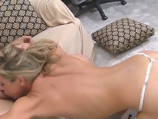 Blonde milf Amanda Blow enjoys having wild sex with young stud Anthony Rosano