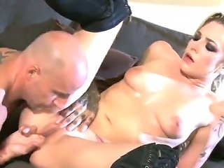 Wet Bailey Blue sucked and banged hard with a big condom cock in all her...