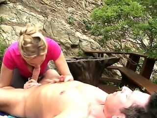 Hot slut - Julia Ann gets outdoor sex with her lovely friend. She starts to...