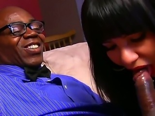Rose Monroe and Sean Michaels are enjoying a full interracial hardcore session