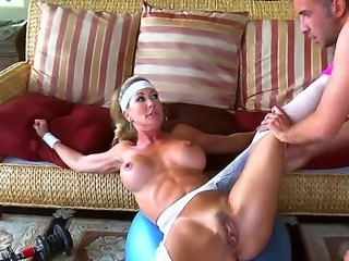 Busty blonde Brandi Love finally gets nailed by hard cock of Keiran Lee