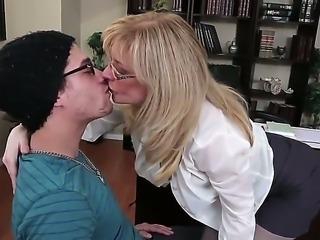 Horny professor Nina Hartley is showing young Xander Corvus the lusty ways of...