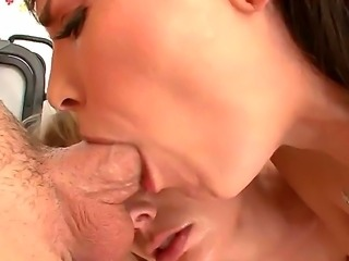 Young looking horny blonde and black haired sluts Adrianna Nicole and Dana...