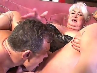 Sweet mature lady Dana Hayes is being drilled in her hairy cunt by the nice...
