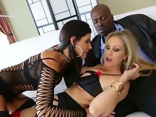 Enjoy hot threesome movie with pornstars India Summer, Julia Ann and...