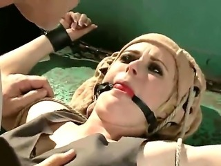A hottest rough action with the Mark Davis and the sympathetic gagged blonde...