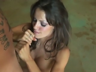 Turned on skillful brunette milf Vanessa Lane with provocative make up and...