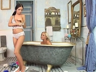 Be a fly on the wall as gorgeous blonde Candy and adorable brunette Sasha...