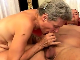 Mature madame Aliz has very sexy young neighbor who always ogles him. The man...
