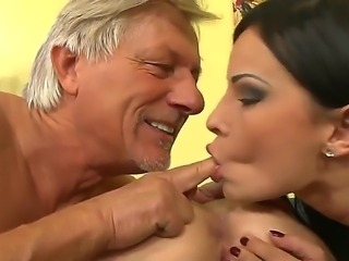 An elderly perv gets to enjoy