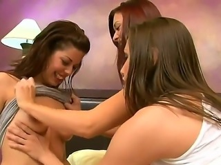 Marlena, Celeste Star and hot Karlie Montana are enjoys a very sweet and...