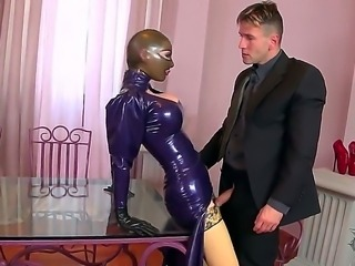 It is hard to read the expression on Latex Lucys face, but it is still...