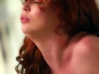 Pretty brunette babe Jessie Palmer with tight ass and natural boobs in...