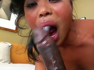 Lusty skilful cock addicted asian Arcadia Dayida with dark heavy make up and...