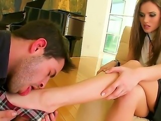 Stunning babe Tori Black gets a sweet amazing foot fetish as she moans lovingly