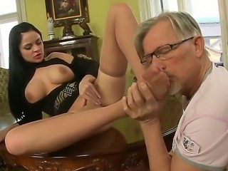 Anastasia Brill with her big boobs is relaxing with old fart Christoph Clark....