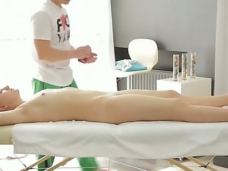 Sensual blonde babe Lavanda enjoys warm hands stimusexy her vag and tight ass